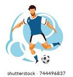 vector illustration of a sports ... | Shutterstock .eps vector #744496837
