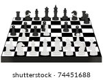 illustration of chess desk... | Shutterstock . vector #74451688