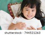 asian children cute or kid girl ... | Shutterstock . vector #744521263