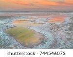 bay area salt ponds sunset....   Shutterstock . vector #744546073