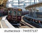 ishibashi  ikeda  osaka  japan...   Shutterstock . vector #744557137