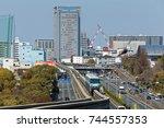 senri chuou  suita  japan ...   Shutterstock . vector #744557353