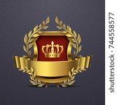 royal heraldic victorian style...   Shutterstock .eps vector #744558577