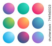 radial gradients with bright... | Shutterstock .eps vector #744560323