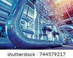 industrial zone  steel... | Shutterstock . vector #744579217