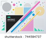 abstract geometric composition... | Shutterstock .eps vector #744584737
