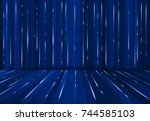 abstrac digital lazer line... | Shutterstock .eps vector #744585103
