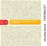 commerce and shopping icon set... | Shutterstock .eps vector #744586237