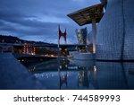 tranquility at guggenheim... | Shutterstock . vector #744589993