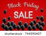 poster for black friday sale... | Shutterstock .eps vector #744590407