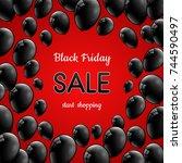 poster for black friday sale... | Shutterstock .eps vector #744590497
