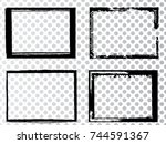 vector frames. rectangles for... | Shutterstock .eps vector #744591367