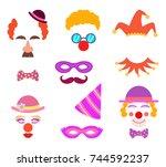 scrapbook elements. circus or... | Shutterstock .eps vector #744592237