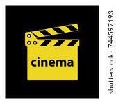clapperboard icon vector | Shutterstock .eps vector #744597193