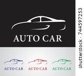 line car logo | Shutterstock .eps vector #744597253