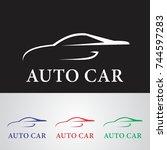 line car logo | Shutterstock .eps vector #744597283