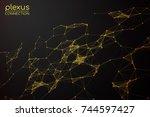 abstract vector illustration.... | Shutterstock .eps vector #744597427
