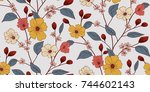 floral pattern in vector | Shutterstock .eps vector #744602143