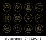 collection of vector icons for...   Shutterstock .eps vector #744629143