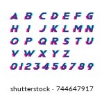 alphabet with numbers and... | Shutterstock .eps vector #744647917