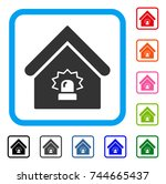 realty alarm icon. flat gray...
