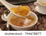 the shark fin soup. | Shutterstock . vector #744678877
