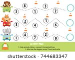 activity page for children.... | Shutterstock .eps vector #744683347