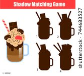 shadow matching game for... | Shutterstock .eps vector #744683527