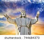 christ statue | Shutterstock . vector #744684373