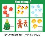 counting educational children... | Shutterstock .eps vector #744684427