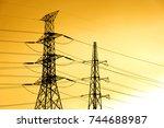 green energy concept ... | Shutterstock . vector #744688987