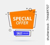 special offer banner template... | Shutterstock .eps vector #744689707