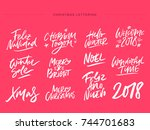 christmas and new year... | Shutterstock .eps vector #744701683