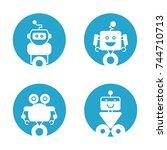 robot icons   Shutterstock .eps vector #744710713