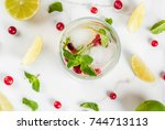 fall and winter refreshment... | Shutterstock . vector #744713113