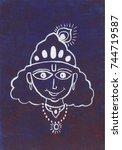 krishna face outline