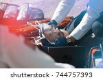 critical care paramedic | Shutterstock . vector #744757393