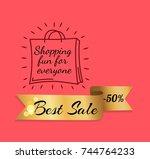 shopping fun for everyone best... | Shutterstock .eps vector #744764233