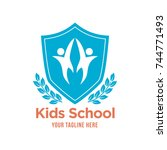 kids efucstion logo  kids play...   Shutterstock .eps vector #744771493