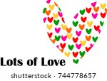 lots of love valentine card | Shutterstock .eps vector #744778657