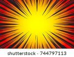 hyper speed warp sun rays or... | Shutterstock . vector #744797113