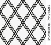 vector seamless pattern.... | Shutterstock .eps vector #744798253