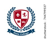 university crests and college... | Shutterstock .eps vector #744799537