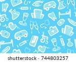 computer icon on buttons.... | Shutterstock .eps vector #744803257