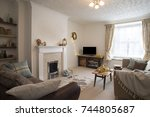 cozy living room in a...   Shutterstock . vector #744805687