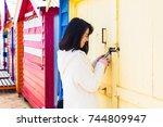 brighton  australia  august...   Shutterstock . vector #744809947