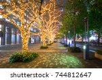 winter illumination at shinjuku ... | Shutterstock . vector #744812647