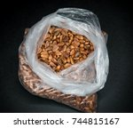 natural looking pine nuts in a...   Shutterstock . vector #744815167