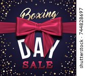 boxing day sale design with... | Shutterstock .eps vector #744828697