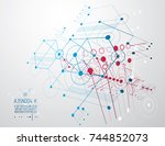 futuristic abstract vector... | Shutterstock .eps vector #744852073